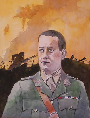 Poster featuring the painting Albert Jaka Vc by Ray Agius