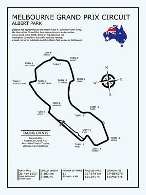 Albert Park Lake Circuit Poster by Mark Rogan