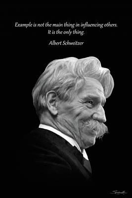 Albert Schweitzer Portrait Poster