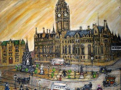 Albert Square Manchester 1900 Poster