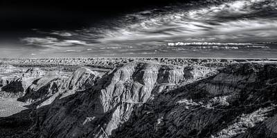Poster featuring the photograph Alberta Badlands by Wayne Sherriff