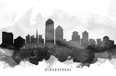 Albuquerque Cityscape 11 Poster by Aged Pixel