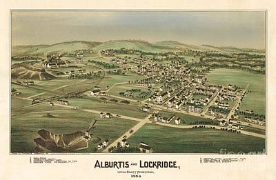 Alburtis And Lockridge Pennsylvania Birdseye Print Poster by Fowler-Titchenal
