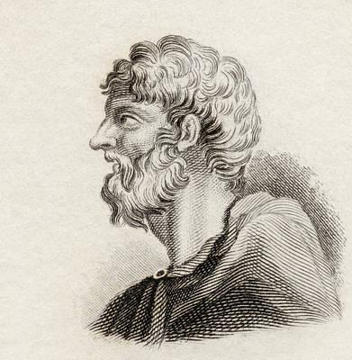 Alcaeus Of Mytilene, C. 620 Bc. Ancient Poster