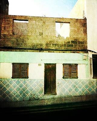 Poster featuring the photograph Alcala Blue House No1 by Anne Kotan