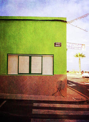 Poster featuring the photograph Alcala Green Corner by Anne Kotan