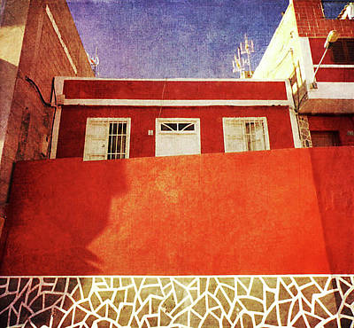 Poster featuring the photograph Alcala Red House No2 by Anne Kotan