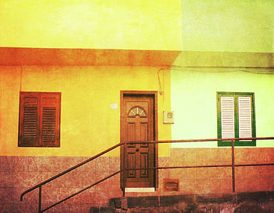 Poster featuring the photograph Alcala Yellow Green Houses by Anne Kotan
