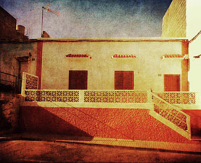 Poster featuring the photograph Alcala Yellow Red House by Anne Kotan