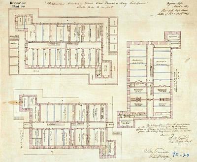 Alcatraz Citadel Drawing 1857 Poster