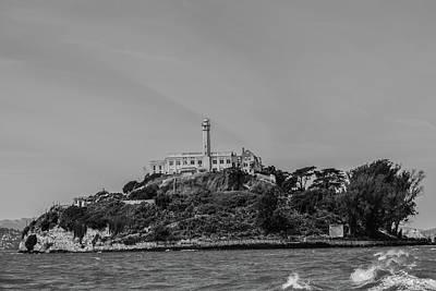 Alcatraz Island In Black And White Poster
