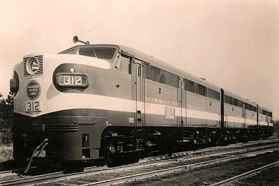 Alcoa Ge Freight Locomotive Poster