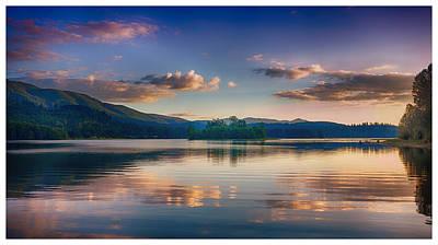 Alder Lake Sunset Poster