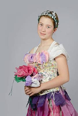 Alegra In Paper Floral Dress Poster