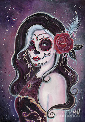 Alegria Day Of The Dead Poster by Renee Lavoie