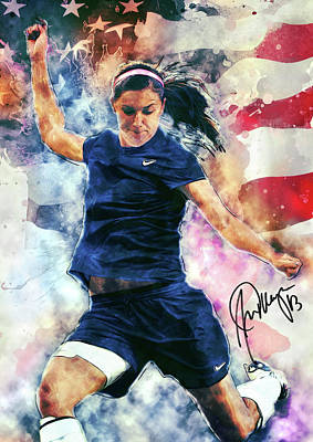 Alex Morgan Poster by Taylan Apukovska