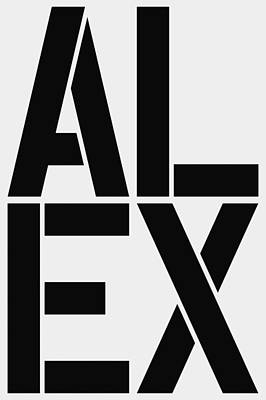 Alex Poster by Three Dots