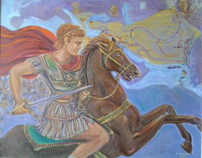 Alexander The Great Poster by Evangelos Koumbis