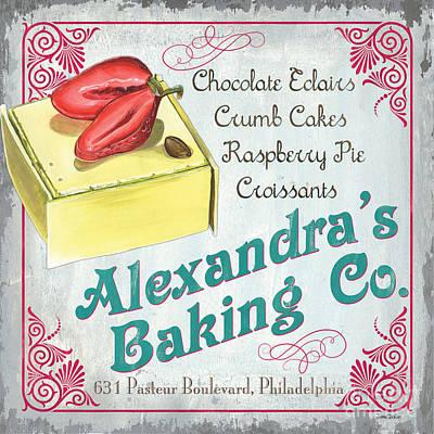 Alexandra's Baking Company Poster by Debbie DeWitt