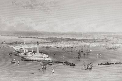 Alexandria, Egypt From A 19th Century Poster by Vintage Design Pics
