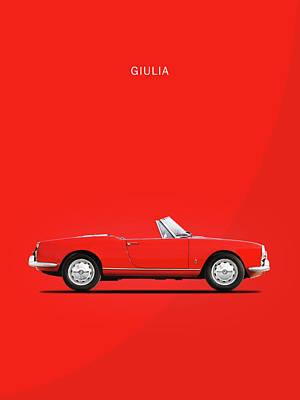Alfa Giulia Spider 1964 Poster