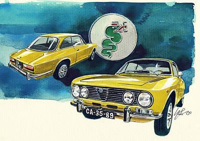 Alfa Romeo 2000 Poster by Yoshiharu Miyakawa