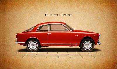 Alfa Romeo Giulietta Sprint Poster by Mark Rogan