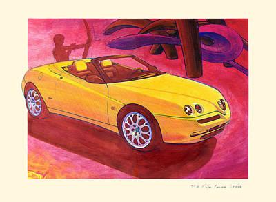 Alfa Romeo Gtv Poster by Andre Elista