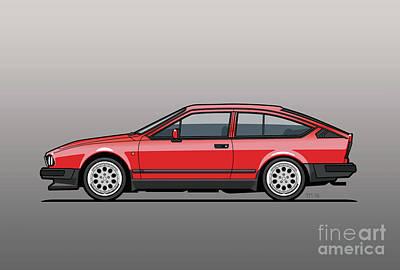 Alfa Romeo Gtv6 Red Poster