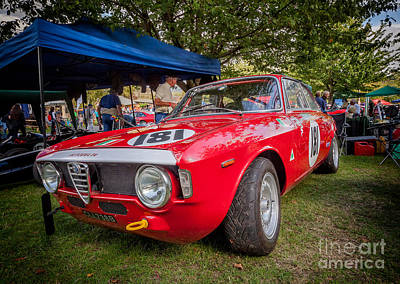 Alfa Romeo Sprint Gt Poster by Adrian Evans