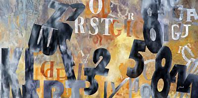 Alfabeto Giallo Nero Poster by Guido Borelli