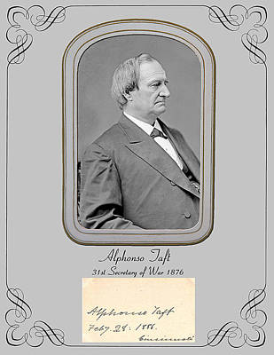 Alfonso Taft Secretary Of War 1876 Poster by Larry Hitchens