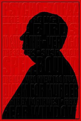 Alfred Hitchcock Poster by Andrew Fare