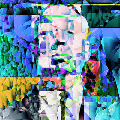 Alfred Hitchcock In Abstract Cubism 20170329 Poster by Wingsdomain Art and Photography