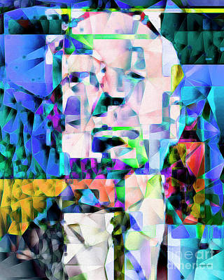 Alfred Hitchcock In Abstract Cubism 20170329ver Poster by Wingsdomain Art and Photography