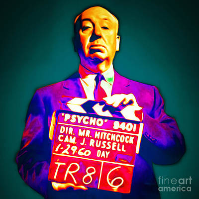 Alfred Hitchcock Psycho 20151218 Square Poster