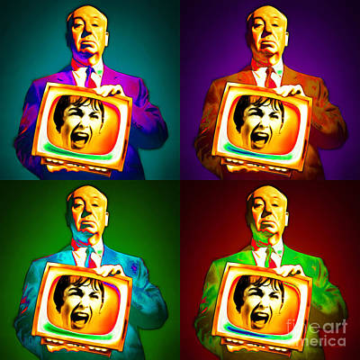 Alfred Hitchcock Psycho Four 20151218 Square Poster