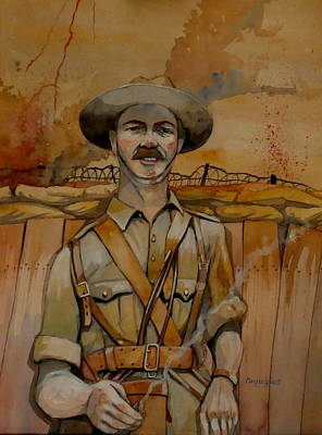 Poster featuring the painting Alfred Shout Vc by Ray Agius