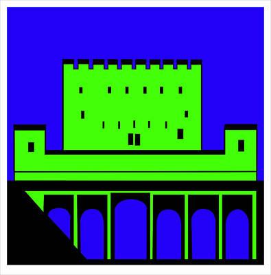 Alhambre Green Granada Poster by Asbjorn Lonvig