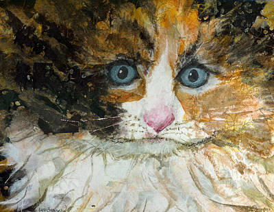 Poster featuring the painting Ali Cat 1 by Lynn Babineau