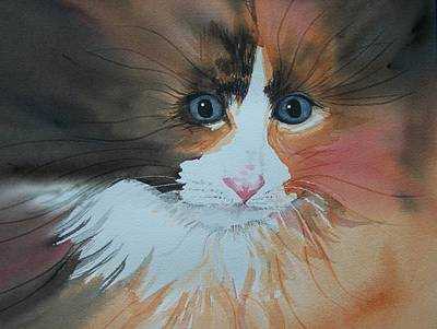 Poster featuring the painting Ali Cat Abstract by Lynn Babineau