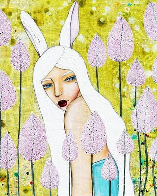 Poster featuring the mixed media Alice In Oz by Natalie Briney