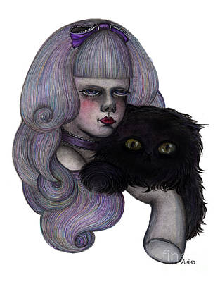 Alice With Black Cat Poster