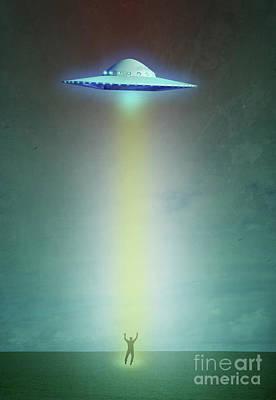Alien Abduction Poster by Edward Fielding