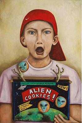 Alien Cookies Poster by Leah Saulnier The Painting Maniac