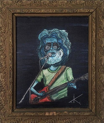 Poster featuring the painting Alien Jerry Garcia by Similar Alien