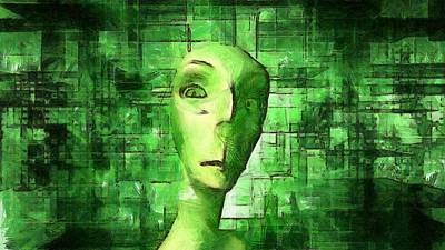 Alien Matrix Poster by Raphael Terra