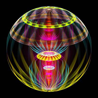 Alien Sphere Fractal Fantasy Poster