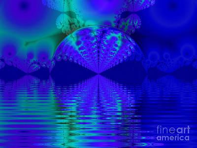 Alien Sunset Over Fantasy Lake Poster