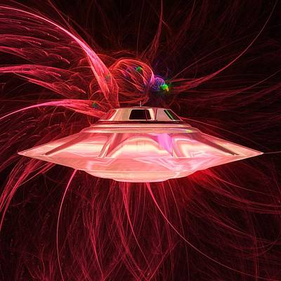 Alien Ufo By Raphael Terra Poster by Raphael Terra